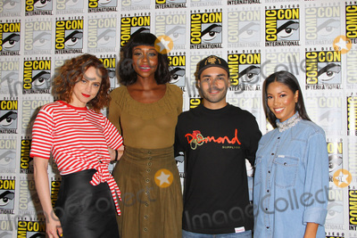 Amanda Warren Photo - SAN DIEGO - July 21  Fiona Dourif Amanda Warren Gabriel Chavarria Lex Scott Davis at the The Purge Press Line at the Comic-Con International on July 21 2018 in San Diego CA