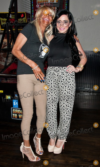 Angelina Pivarnick Photo - WOODLYN PA - APRIL 24 (L to R) Patricia Tan Mom Krentcil  Angelina Pivarnick Attend The World Xtreme Entertainment Celebrity Boxing Match Press Conference at The Venue on April 24 2014 in Woodlyn Pennsylvania (Photo by Paul J FroggattFamousPix)