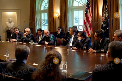 Asif Ali Photo - Washington DC - May 6 2009 -- United States President Barack Obama (center) with President Hamid Karzai of Aghanistan and President Asif Ali Zadari of Pakistan during a US-Afghanistan-Pakistan Trilateral meeting in Cabinet Room Wednesday  May 6 2009 MANDATORY PHOTO CREDIT Pete SouzaWhite House-CNP-PHOTOlinknet