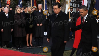 Robert gates Photo - WASHINGTON DC - JANUARY 19 (AFP OUT) US President Barack Obama (R) escorts Chinese President Hu Jintao (C) to the White House during a State arrival ceremony January 19 2011 in Washington DC Obama and Hu are schedule to meet in the Oval Office later in the day hold a joint press conference and attend a State dinner  Also pictured (L-R) are US Defense Secretary Robert Gates US Secretary of State Hillary Clinton Jill Biden and US Vice President Joe BidenPhoto by  Mark WilsonPoolCNP-PHOTOlinknet
