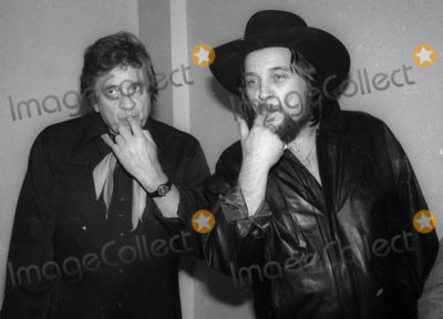 Johnny Cash Photo - Johnny Cash Waylon Jennings4658JPGCelebrity Archaeology1982 FILE PHOTONew York CityJohnny Cash Waylon JenningsPhoto by Adam Scull-PHOTOlinknet