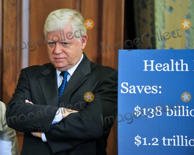 John B Photo - United States Representative John B Larson (Democrat of Connecticut) answers a question as he and US House Democratic Leaders meet reporters to announce the savings to the federal budget by their health care reform effort in the US Capitol in Washington DC on Thursday March 18 2010Photo by Ron Sachs-CNP-PHOTOlinknet