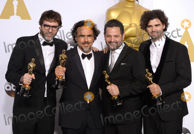 Alejandro GInarritu Photo - Photo by PDstarmaxinccomSTAR MAX2015ALL RIGHTS RESERVEDTelephoneFax (212) 995-119622215Screenwriters Nicolas Giacobone Alejandro G Inarritu Alexander Dinelaris and Armando Bo in the Press Room at the 2015 Oscars held at the Kodak Theatre Hollywood(Los Angeles USA)