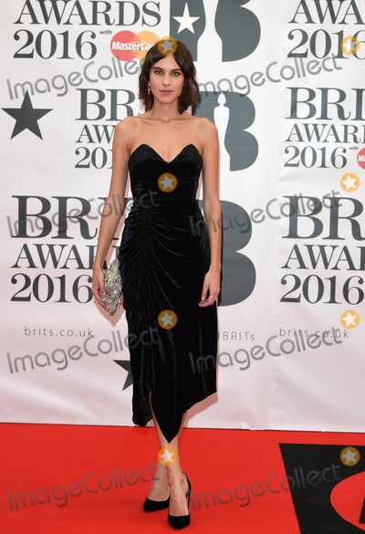 Alexa Chung Photo - Photo by KGC-03starmaxinccomSTAR MAX2016ALL RIGHTS RESERVEDTelephoneFax (212) 995-119622416Alexa Chung at the 2016 Brit Awards at the O2 Arena London England