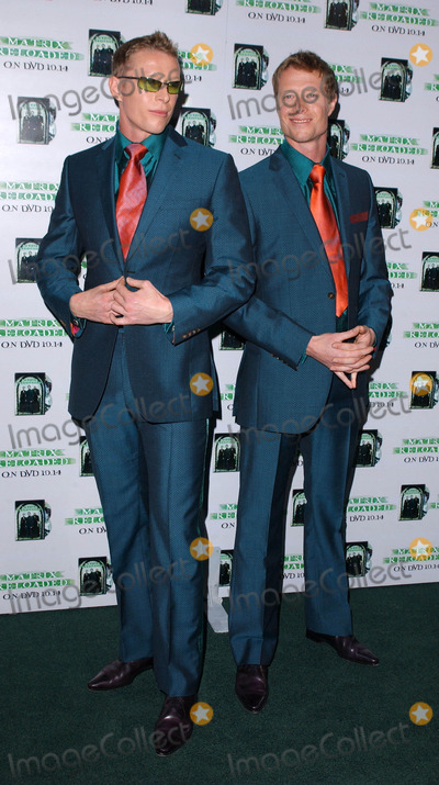 Adrian Rayment Photo - Photo by Lee RothSTAR MAX Inc - copyright 2003100803Adrian Rayment and brother Neil Rayment at the worldwide DVD launch of the year for The Matrix Reloaded(West Hollywood CA)