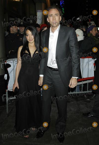 Alice Kim Photo - Photo by Raoul Gatchalianstarmaxinccom200721507Nicolas Cage and his wife Alice Kim at the premiere of Ghost Rider(NYC)