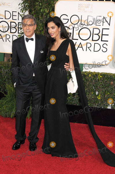 Amal Clooney Photo - Photo by GalaxystarmaxinccomSTAR MAX2015ALL RIGHTS RESERVEDTelephoneFax (212) 995-119611115George Clooney and Amal Clooney at the 72nd Golden Globe Awards(Los Angeles CA)