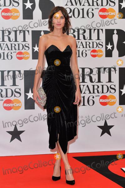 Alexa Chung Photo - Photo by KGC-42starmaxinccomSTAR MAX2016ALL RIGHTS RESERVEDTelephoneFax (212) 995-119622416Alexa Chung at the 2016 Brit Awards at the O2 Arena London England