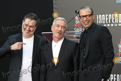 Harald Kloser Photo - Photo by REWestcomstarmaxinccomSTAR MAX2016ALL RIGHTS RESERVEDTelephoneFax (212) 995-119662016Harald Kloser Roland Emmerich and Jeff Goldblum at a hand and footprint ceremony for Independence Day Resurgence (Hollywood CA)