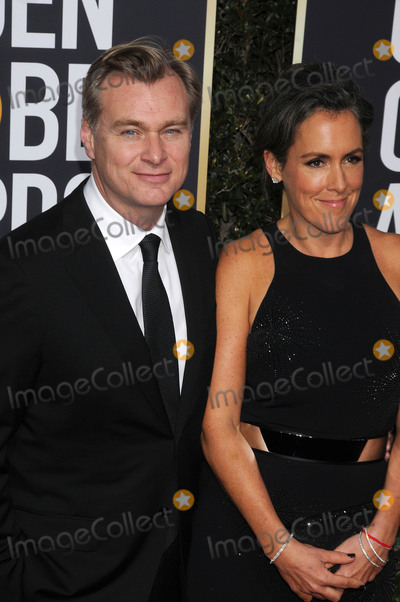 Christopher Nolan Photo - Photo by GalaxystarmaxinccomSTAR MAXCopyright 2018ALL RIGHTS RESERVEDTelephoneFax (212) 995-11961718Christopher Nolan and Emma Thomas at the 75th Annual Golden Globe Awards(Beverly Hills CA)