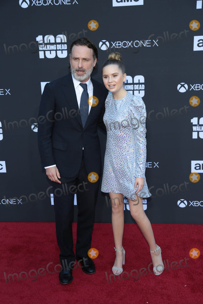 Andrew Lincoln Photo - Photo by gotpapstarmaxinccomSTAR MAX2017ALL RIGHTS RESERVEDTelephoneFax (212) 995-1196102217Andrew Lincoln and Kyla Kenedy at AMCs Celebration of The 100th Episode of The Walking Dead in Los Angeles CA
