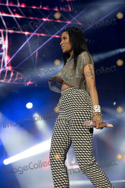 Lil Wayne Photo - Nicki Minaj wearing a short see -thru top with star shaped pasties on her breasts performs at Summerjam 2014 alongside Drake lil Wayne and the rest of YMCMB