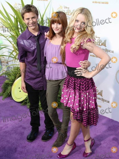 Bella Thorne Photo - Garrett Backstrom Bella Thorne and Kathryn Newton pose on the purple carpet after arriving for a special Picnic In The Park premiere of Tinker Bell and the Great Fairy Rescue held at La Cienega Park Los Angeles CA 082810