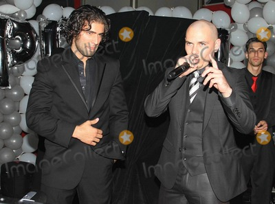 Ana Carolina da Fonseca Photo - Rapper Pitbull (aka Armando Christian Perez) celebrates his 30th birthday at Play nightclub with friends that included Mexican pop singer Cristian Castro former Major League Baseball player Sammy Sosa Brazilian-born actress Ana Carolina da Fonseca who surprised Pitbull when she walked out of a giant faux cake and Latin pop singer and actor Jencarlos Canela  Pitbull appeared to be in a great mood as he kissed and hugged Ana Carolina stuck out his tongue and posed with a comical sculpture of himself Pictured Jencarlos Canela and Pitbull Miami FL 011511