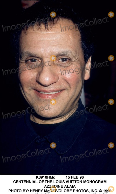 Azzedine Alaia Photo - 15 Feb 96 Centennial of the Louis Vuitton Monogram Azzedine Alaia Photo by Henry McgeeGlobe Photos Inc