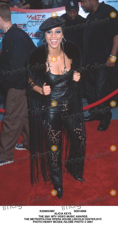 Alicia Keys Photo - Sd010906 Alicia Keys the 2001 Mtv Video Music Awards the Metropolitan Opera Houselincoln Centernyc Photohenry Mcgee Globe Photo