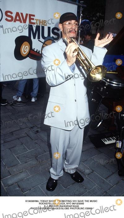 AJ MCLEAN Photo -  Today Show Promoting Vh1 Save the Music Rockefeller Plaza NYC 06122000 Aj Mclean (Backstreet Boys) Photo by Henry McgeeGlobe Photosinc