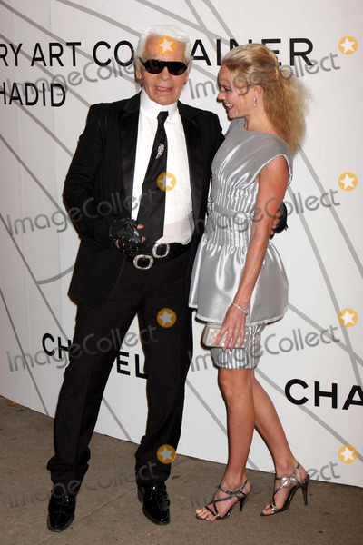 Zaha Hadid Photo - Karl Lagerfeld and Kate Bosworth Arriving at the Opening Party For Mobile Art Chanel Contemporary Art Container by Zaha Hadid at Rumsey Playfield Central Park in New York City on 10-21-2008 Photo by Henry McgeeGlobe Photos Inc 2008
