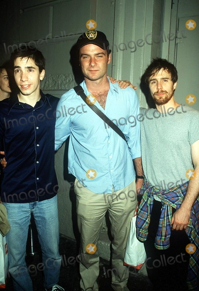 Sam Rockwell Photo - the 24 Hours Play After Party Spa NYC 092401 Photo by Henry McgeeGlobe Photos Inc 2001 Liev Schreiber Justin Long Sam Rockwell