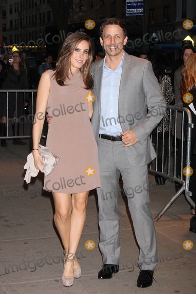Alexi Ashe Photo - Seth Meyers and Alexi Ashe Arriving at a Screening of the Hunger Games at Sva Theatre in New York City on 03-20-2012 Photo by Henry Mcgee-Globe Photos Inc 2012