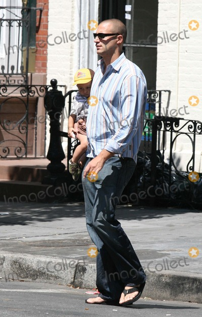 Nigel Barker Photo - NYC  081306EXCLUSIVE Nigel Barker (Americas Next Top Model) carrying his son while walking in the West VillageDigital Photo by Adam Nemser-PHOTOlinknet