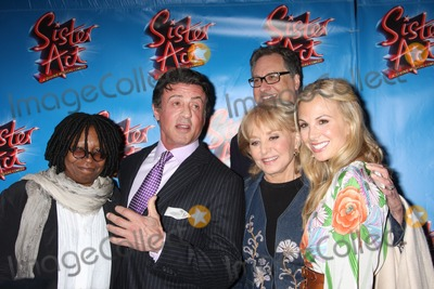 Douglas Carter Beane Photo - New York City 20th April 2011Whoopi Goldberg Sylvester Stallone Barbara Walters Elisabeth Hasselbeck and Douglas Carter Beane at opening night of Sister Act on Broadway  at The Broadway TheatrePhoto by Adam Nemser-PHOTOlinknet