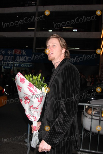 Thaddaeus Scheel Photo - NYC  032209Thaddaeus Scheel (Marcia Gay Hardens husband)bringing flowers to the theatre on her Broadway opening night of God of CarnageBernard B Jacobs TheatreDigital Photo by Adam Nemser-PHOTOlinknet