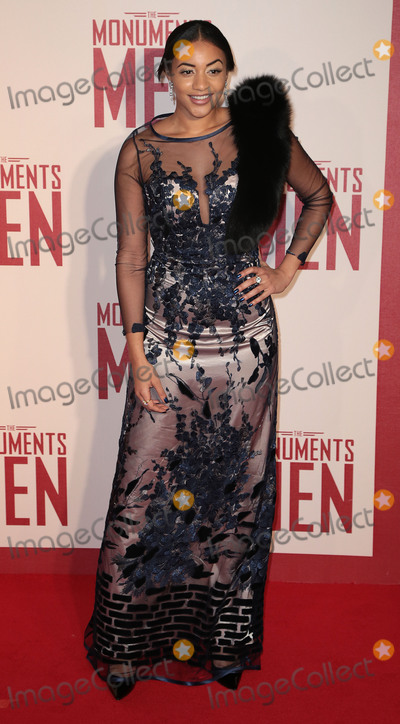 Amal Fashanu Photo - Feb 11 2014 - London England UK - The Monuments Men UK Premiere Odeon Leicester SquarePhoto Shows Amal Fashanu