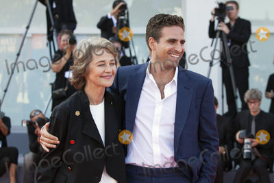 Andrea Pallaoro Photo - VENICE ITALY - SEPTEMBER 08 Charlotte Rampling and Andrea Pallaoro walk the red carpet ahead of the Hannah screening during the 74th Venice Film Festival at Sala Grande on September 8 2017 in Venice Italy(Photo by Laurent KoffelImageCollectcom)
