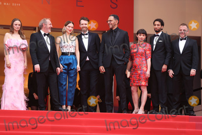 Arnaud Desplechin Photo - CANNES FRANCE - MAY 22 (L-R) Sara Forestier Director Arnaud Desplechin Lea Seydoux Antoine Reinartz Roschdy Zem Chloe Simoneau Guest and Jeremy Brunet attend the screening of Oh Mercy (Photo by Laurent KoffelImageCollectcom)