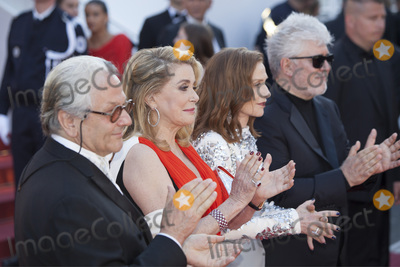Catherine Deneuve Photo - CANNES FRANCE - MAY 23 Isabelle Huppert Pedro Almodovar George Miller Catherine Deneuve attend the 70th Anniversary screening during the 70th annual Cannes Film Festival at Palais des Festivals on May 23 2017 in Cannes France(Photo by Laurent KoffelImageCollectcom)