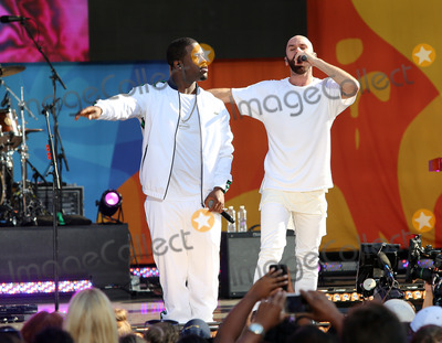 AAP Ferg Photo - August 5 2016 New York CityHip Hop recording artist AAP Ferg (L) performs with singer Sam Harris of the X Ambassadors during ABCs Good Morning America Concert series at the SummerStage at Rumsey Playfield Central Park on August 5 2016 in New York City By Line Serena XuACE PicturesACE Pictures IncTel 6467670430