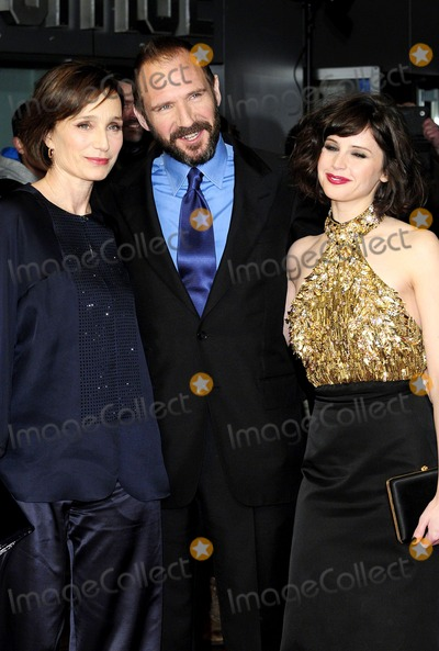 Kristin Scott Thomas Photo - January 27 2014 LondonKristin Scott Thomas Ralph Fiennes and Felicity Jones at the UK Premiere of The Invisible Woman at the Odeon Kensington on January 27 2014 in London