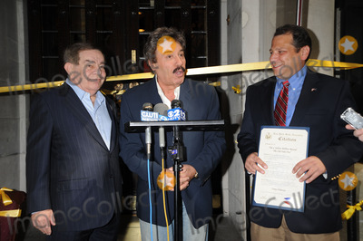 Tony Orlando Photo - Freddy Roman Tony Orlando and Andrew Raia speak at a press conference as Orlando is honored with the worlds largest yellow ribbon outside the Friars Club on September 2 2008 in New York City