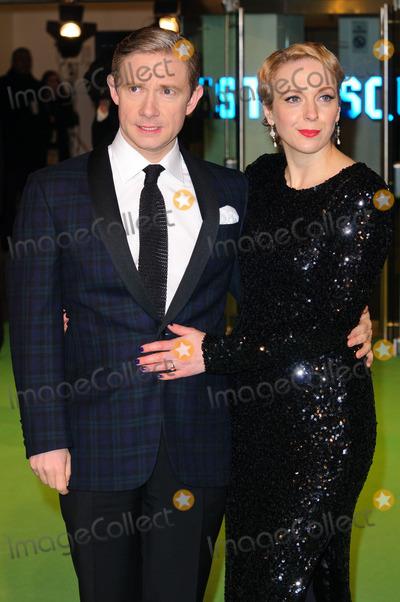 Amanda Abbington Photo - December 12 2012 LondonMartin Freeman and Amanda Abbington at the premiere of The Hobbit An Unexpected Journey on December 12 2012 in London