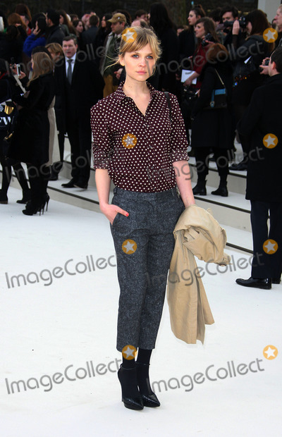 Clemence Posey Photo - Clemence Posey at the Burberry Prorsum show during London Fashion Week on February 20 2012 in London