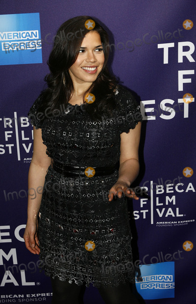 AMERICA FERERRA Photo - Actress America Ferrera arriving at the Letters to Juliet premiere during the 9th Annual Tribeca Film Festival at the La Bottega on April 25 2010 in New York City