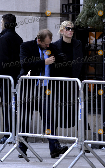 Andrew Upton Photo - February 7 2014 New York CityCate Blanchett Andrew Upton attending Philip Seymour Hoffmans funeral at St Ignatius Loyola Church in Manhattan on February 7 2014 in New York City