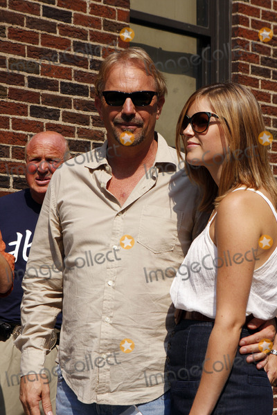 Lily Costner Photo - Actor Kevin Costner and his daughter Lily Costner made an appearance on the Late Show with David Letterman at the Ed Sullivan Theatre on July 29 2008 in New York City