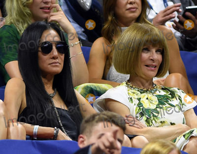 Anna Wintour Photo - August 29 2016 New York CityFashion designer Vera Wang chats with Anna Wintour at the opening ceremony on Day One of the 2016 US Open at the USTA Billie Jean King National Tennis Center on August 29 2016 in the Queens borough of New York CityBy Line SolarACE PicturesACE Pictures IncTel 6467670430