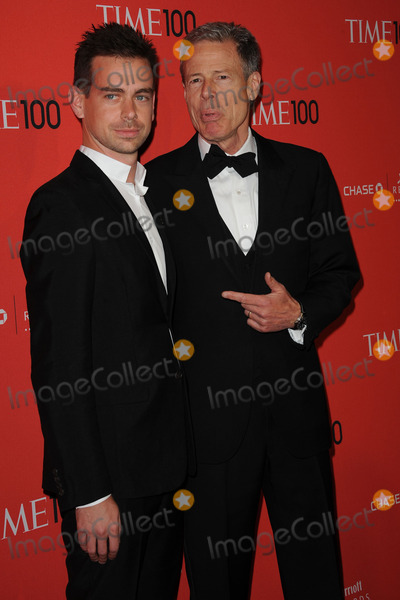 JACK DORSEY Photo - April 24 2012 New York City Jack Dorsey Jeff Koons arriving to the TIME 100 Gala celebrating TIMES 100 Most Influential People In The World at Jazz at Lincoln Center on April 24 2012  in New York City