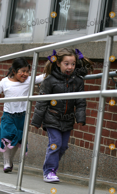 AVA JACKMAN Photo - Actor Hugh Jackman  picks up his daughter Ava from her school in Soho on February 22 2010 in New York City