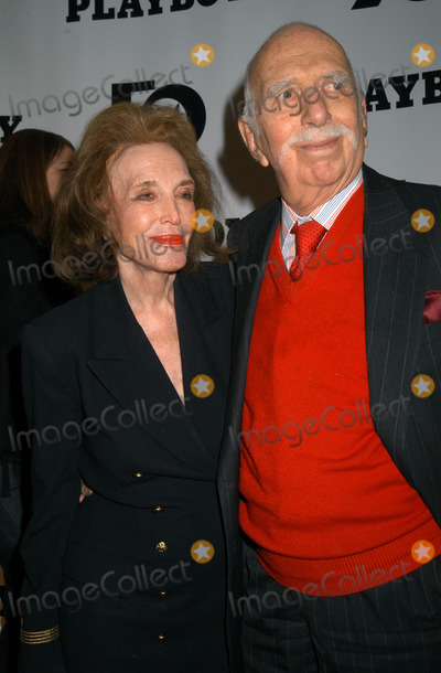 Playboy Magazine Photo - HELEN GURLEY BROWN and DAVID BROWN at the celebration of the 50th Anniversary of Playboy Magazine New York November 5 2003