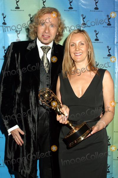Angie Stephenson Photo - Thomas Gottschalks and Angie Stephenson at the 30th Internationla Emmy Awards in New York  November 25 2002