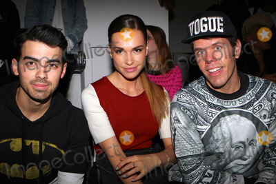 The Blonds Photo - February 12 2014 New York City(L-R) Joe Jonas Blanda Eggenschwiler and Perez Hilton at the The Blonds fashion show during MADE Fashion Week Fall 2014 at Milk Studios on February 12 2014 in New York City