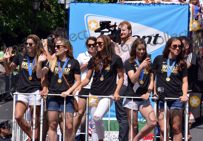 Alex Morgan Photo - July 10 2015 New York CityAlex Morgan Tobin Heath Lauren Holiday Amy Rodriguez and Morgan Brian of the winning US Womens soccer team at the ticker tape parade for the World Cup Champions US Womens Soccer National Team on July 10 2015 in New York CityBy Line Curtis MeansACE PicturesACE Pictures Inctel 646 769 0430