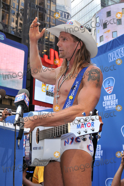 Robert John Burck Photo - New York singing icon Robert John Burck also known as The Naked Cowboy  held a press conference to announce the launch of the Naked Cowboys New York City mayoral campaign at Military Island Times Square on July 22 2009 in New York City