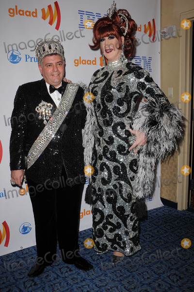 ANNE TIQUE Photo - Emperor Tony Monteleone and Empress Anne Tique of the Imperial Court of New York arriving at the 21st Annual GLAAD Media Awards at The New York Marriott Marquis on March 13 2010 in New York City