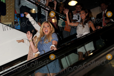 The Cheetah Girls Photo - Singers Sabrina Bryan and Adrienne Bailon of the Cheetah Girls attend an instore signing for their One World album at Virgin Megastore Times Square on August 19 2008 in New York City