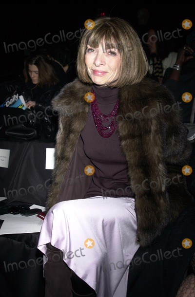 Anne Klein Photo - Anna Wintour at the Anne Klein 2003 Fall Fashion Show at Bryant Park New York February 11 2003